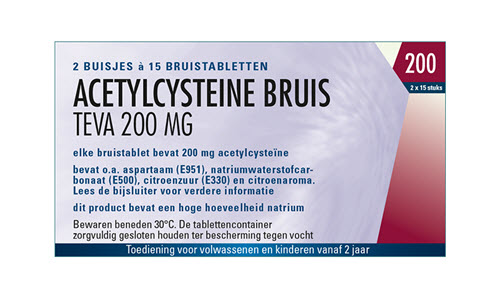 Acetylcysteïne 200 mg bruistablet