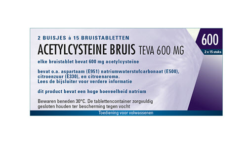 Acetylcysteïne 600 mg bruistablet